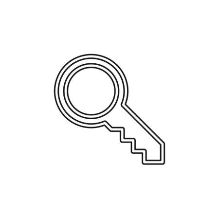 Key icon - vector key symbol. protection and security sign - vector lock symbol. Thin line pictogram - outline editable stroke Illustration