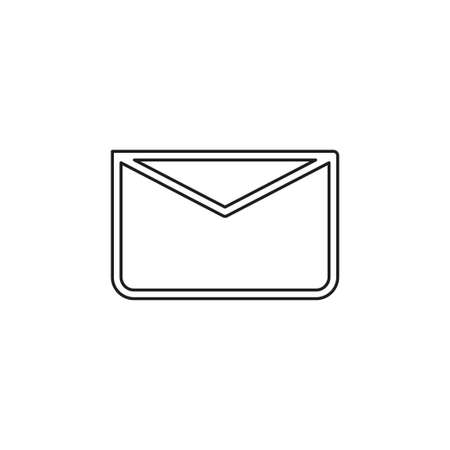 message icon, envelope illustration - vector mail icon, send letter isolated. Thin line pictogram - outline editable stroke Иллюстрация