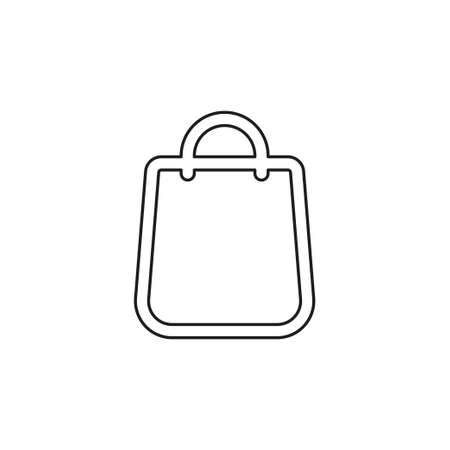 bag flat icon - vector shopping bag. retail store shopping bag. Thin line pictogram - outline editable stroke