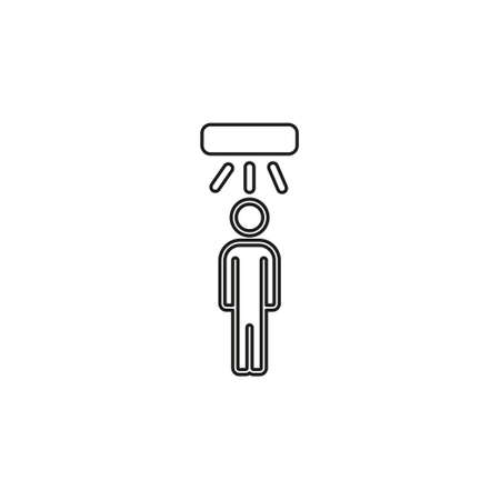 Motion sensor icon. Simple element illustration. motion sensor symbol design from Smart home collection. Can be used for web and mobile. Thin line pictogram - outline editable stroke