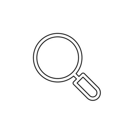 magnifying glass vector - search icon - zoom or find symbol. Thin line pictogram - outline editable stroke