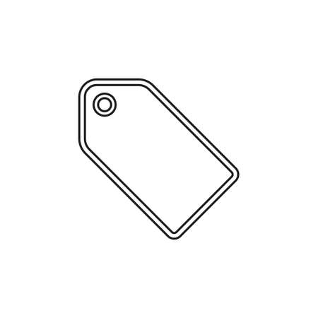 vector label tag symbol. discount element, coupon tag with label. Thin line pictogram - outline editable stroke