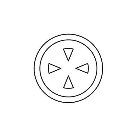 crosshairs icon - vector target aim, sniper symbol - weapon illustration. Thin line pictogram - outline editable stroke