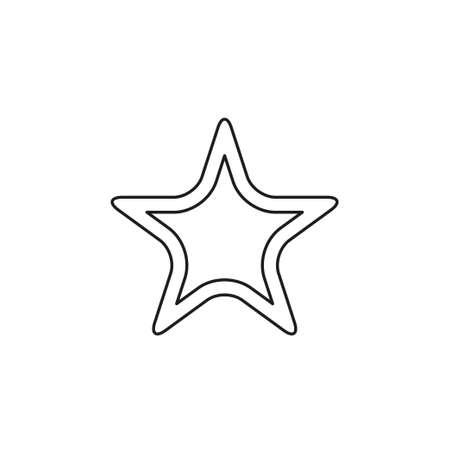 vector Starfish icon, Sea star flat illustration. Thin line pictogram - outline editable stroke