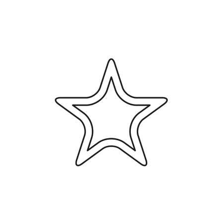 vector Starfish icon, Sea star flat illustration. Thin line pictogram - outline editable stroke
