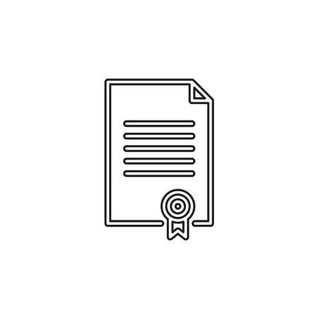 certificate creative icon. Simple element illustration. certificate concept symbol design from Science collection. Can be used for web and mobile. Thin line pictogram - outline editable stroke