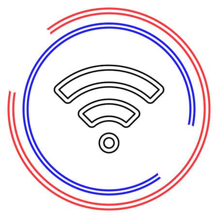 Simple WiFi. Thin line pictogram - outline editable stroke