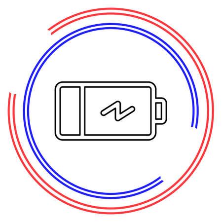 Simple Battery. Thin line pictogram - outline editable stroke