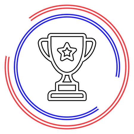 Simple Trophy Cup. Thin line pictogram - outline editable stroke