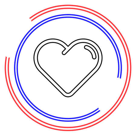Simple Hearth. Thin line pictogram - outline editable stroke