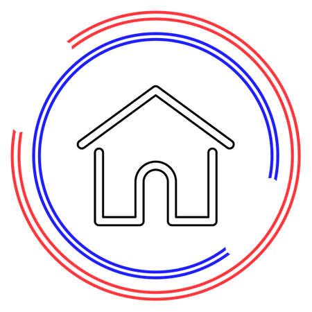 Simple Home. Thin line pictogram - outline editable stroke