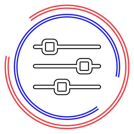 Simple Equalizer. Thin line pictogram - outline editable stroke