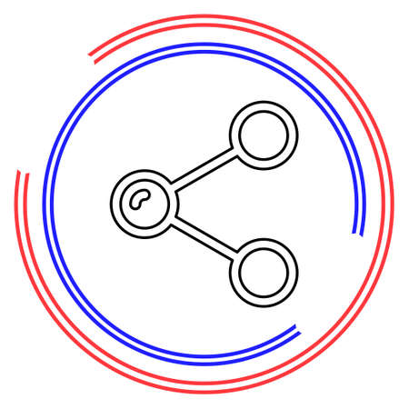 Simple Share. Thin line pictogram - outline editable stroke