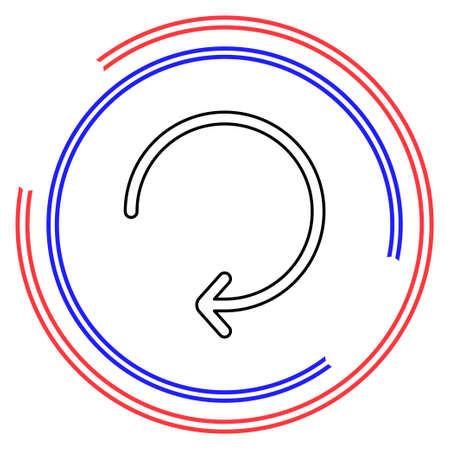 Simple Arrow Refresh. Thin line pictogram - outline editable stroke