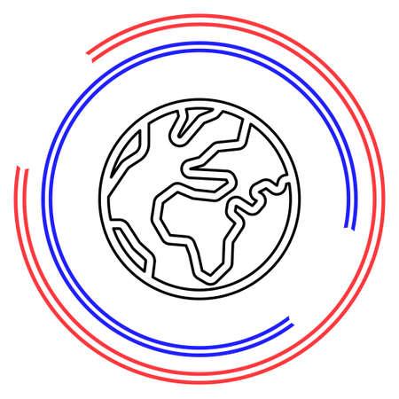 Simple World. Thin line pictogram - outline editable stroke