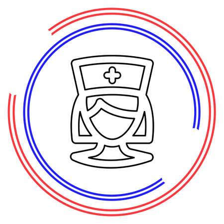 nurse icon, vector medical care, hospital symbol. Thin line pictogram - outline editable stroke