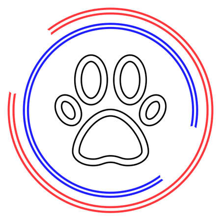 Pets icon, paw print - animal illustration, pet symbol. Thin line pictogram - outline editable stroke Ilustrace
