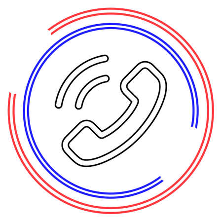 Call center icon - customer support service - communication icon. Thin line pictogram - outline editable stroke