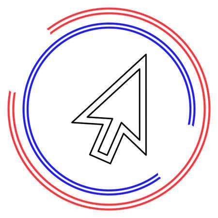 cursor arrow, computer cursor - symbol. Thin line pictogram - outline editable stroke