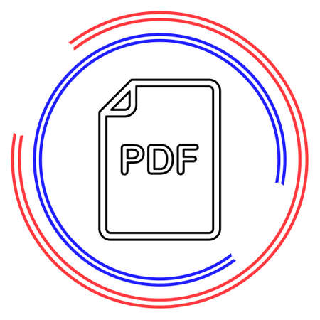 download PDF document icon - vector file format symbol. Thin line pictogram - outline editable stroke Ilustrace