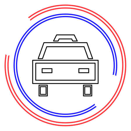 Taxi Icon, taxi icon vector, taxi. vector illustration. Thin line pictogram - outline editable stroke