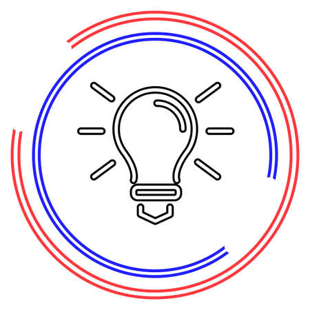 light bulb icon - idea concept, energy power symbol. Thin line pictogram - outline editable stroke Illusztráció