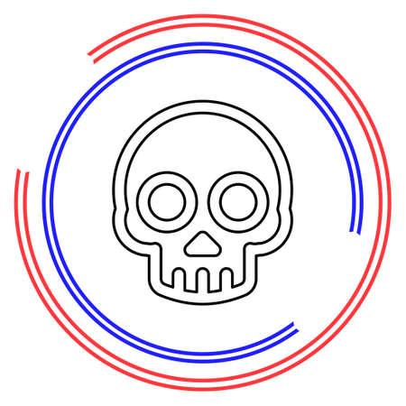 danger skull icon, vector skull crossbones symbol - danger sign. Thin line pictogram - outline editable stroke