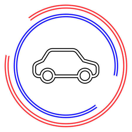 car illustration isolated - vector car, transportation vehicle - automobile design. Thin line pictogram - outline editable stroke Ilustrace