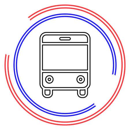 vector Bus illustration - shuttle Bus symbol, travel icon. Thin line pictogram - outline editable stroke