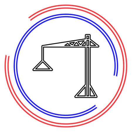 crane icon - vector construction crane, building construction symbol. Thin line pictogram - outline editable stroke