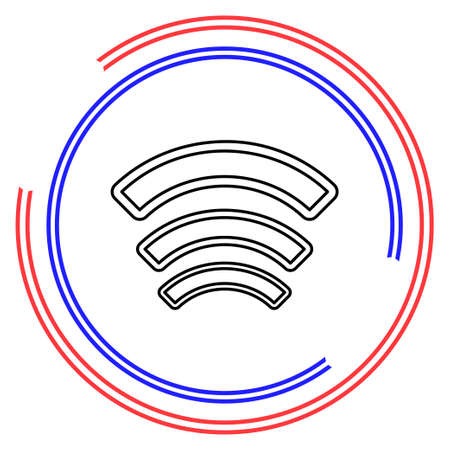 Wireless and wifi icons. Wireless Network Symbol. Wireless and wifi vector. Thin line pictogram - outline editable stroke