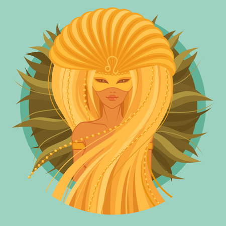 vector Illustration of leo zodiac sign Stock Vector - 37195743