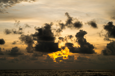 Cloudy sunset over the Andaman sea Stock Photo