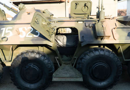 Entry hatch into an armoured personnel carrier