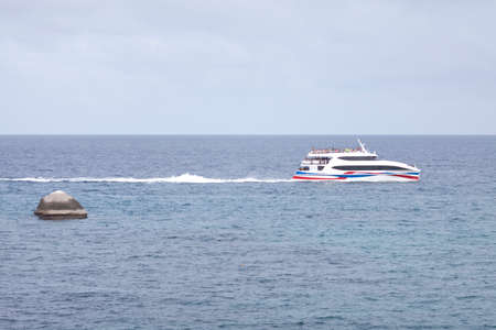 Boat In The Sea At Koh Toa Island photo