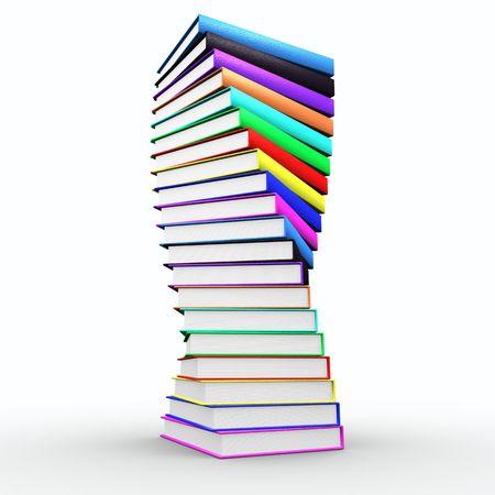 leerboek: Mooi spiraal van boeken eruit trofee Stockfoto