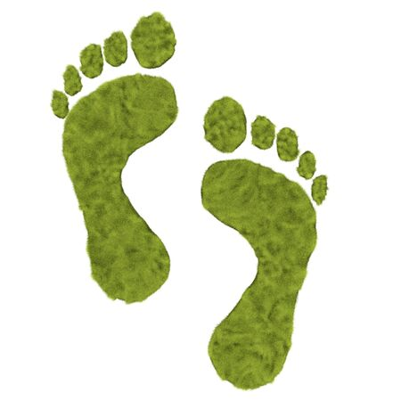 Green grass foot print is to promote the green move instead of carbon foot print