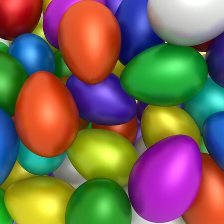 This is to illustrate the colorful easter eggs Stock Photo