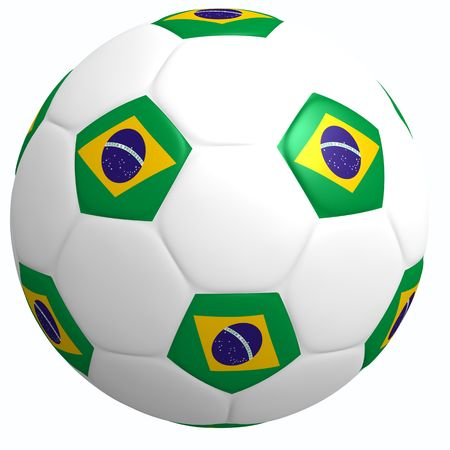 This is to illustrate the football of Brazil Stock Photo