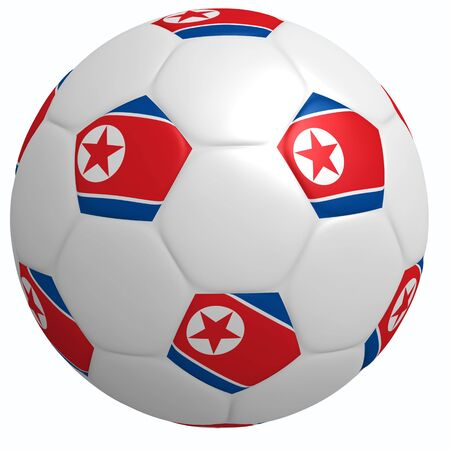 This is to illustrate the football of North Korea Stock Photo