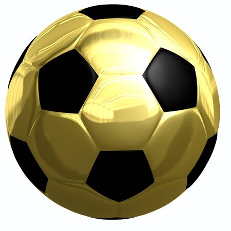 This is to illustrate the gold football  Stock Photo