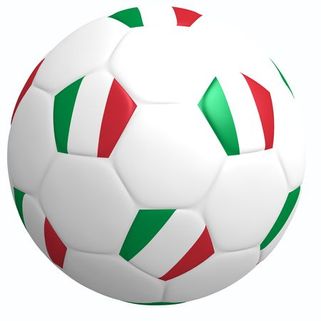 This is to illustrate the football of Italy Stock Photo