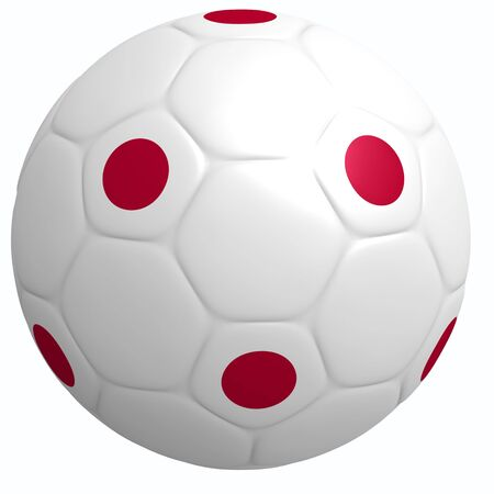 This is to illustrate the football of Japan Stock Photo