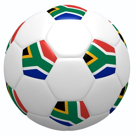 This is to illustrate the football of South Africa Stock Photo