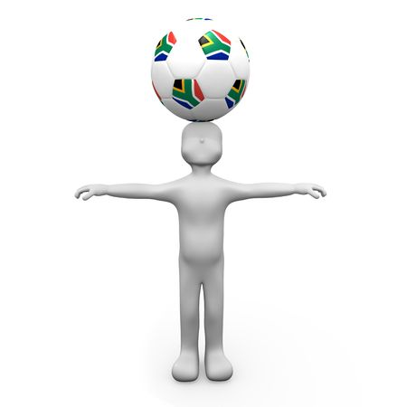 Football on head
