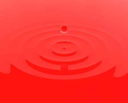 This is to illustrate the droplet of water with red background