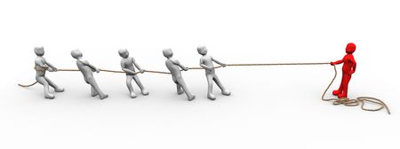 This is to illustrate the tug of war with multiply energy Stock Photo - 7489711