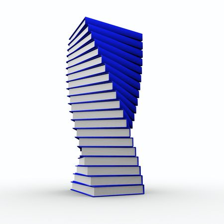 Nice spiral of books looks like trophy Stock Photo - 7489715