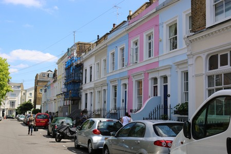 notting hill: Notting Hill Colorful Buildings