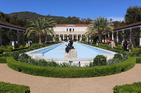 angels fountain: Getty Villa